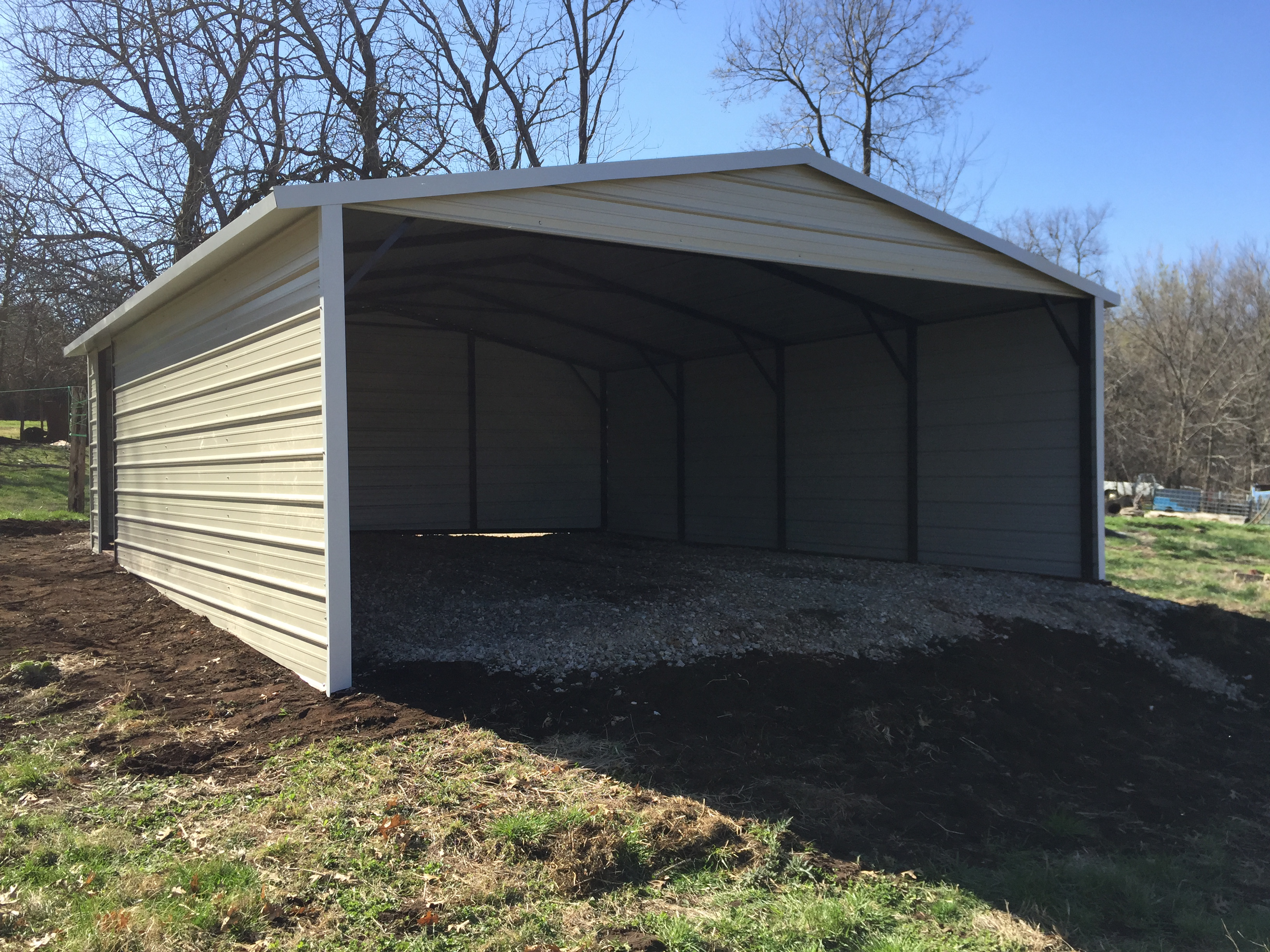 Boxed eave carports for 30x30 pole barn cost