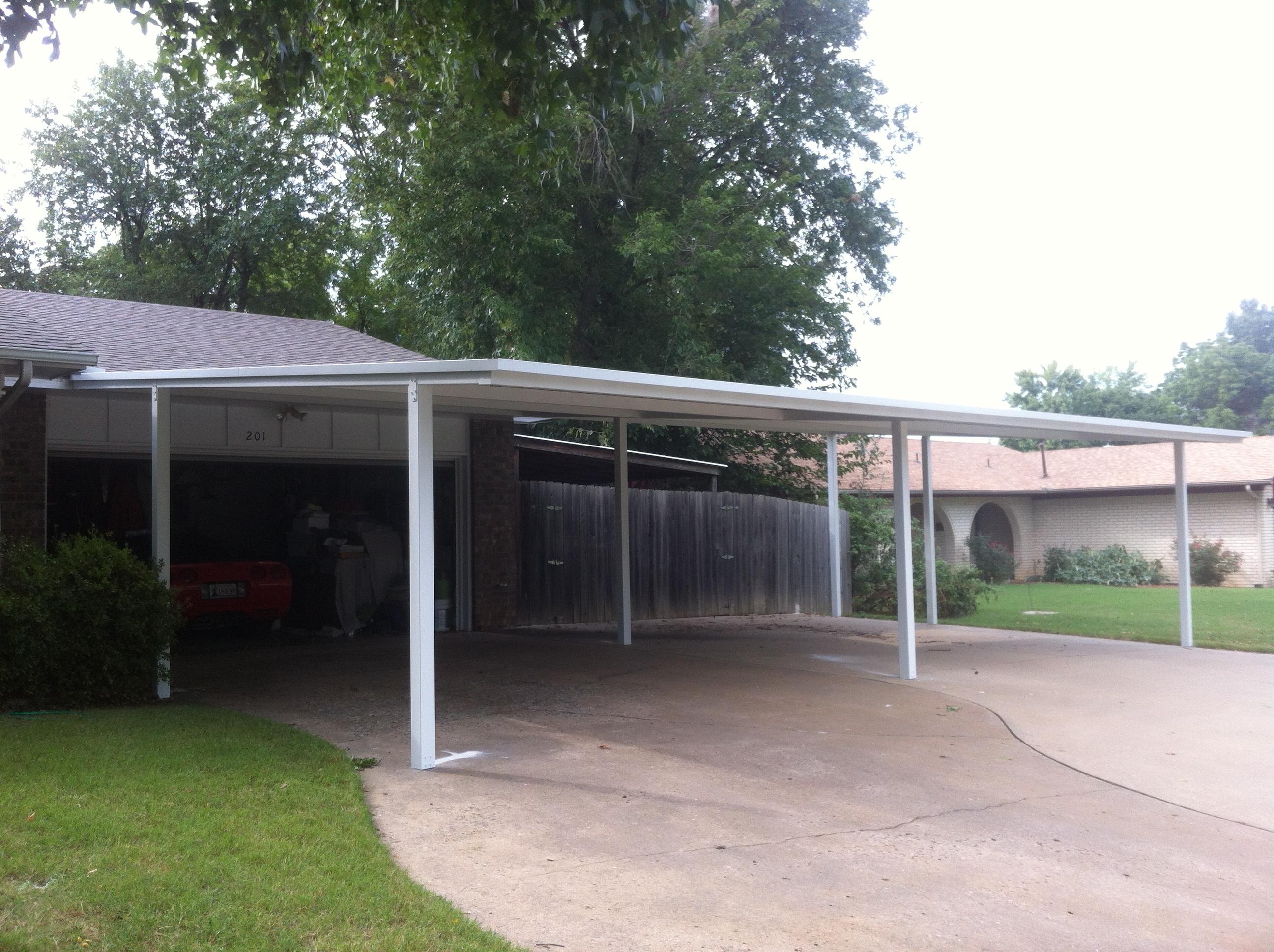 40x40 Metal Carport : Flat carports