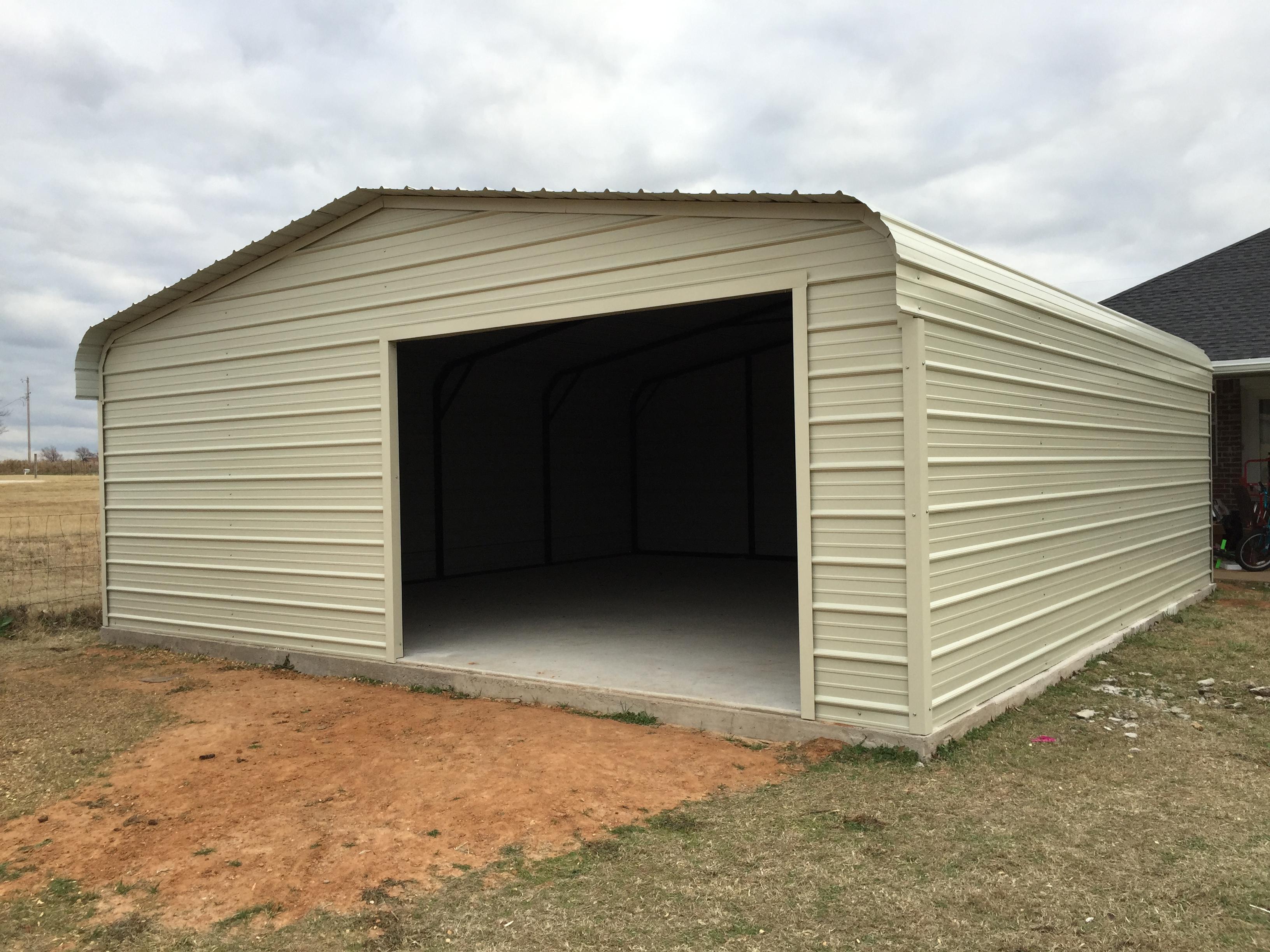 20x24 Metal Carport : Standard garages